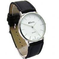 Ravel Mens Classic Quartz Watch Black Strap White Face R0129.02.1